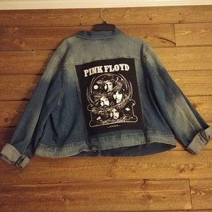 Jackets & Blazers - Customized Pink Floyd Jean Jacket